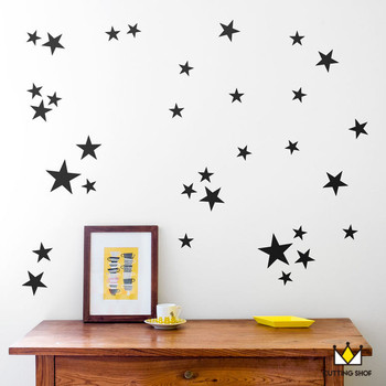 120pcs StarsFree ship cute Wall Sticker Easily Removable & Waterproof PVC No Pollution material for kids room decoration