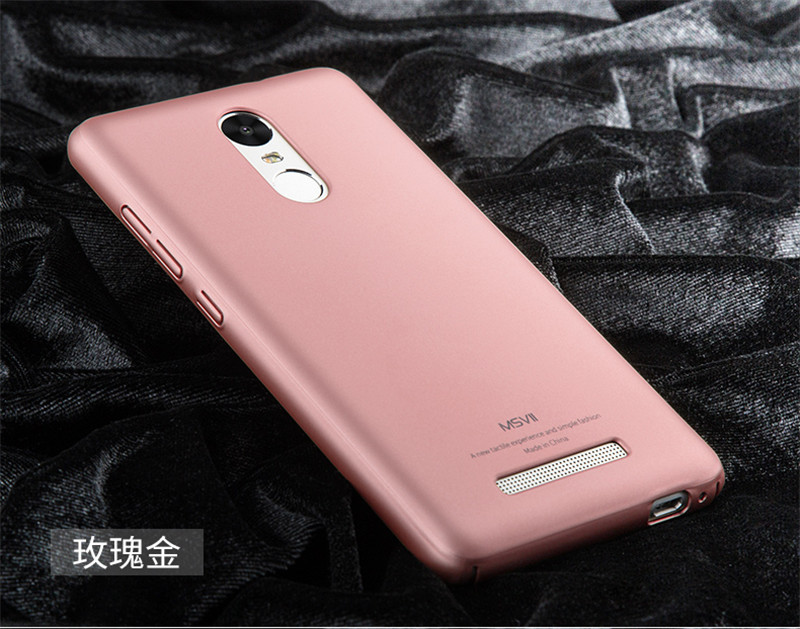 Msvii Ultra Thin Case Cover Plastic PC Material Back Coque Phone Case For Xiaomi Redmi Note 3 Case Phone Bag Accessory JS0134