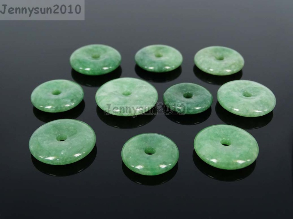 Chinese Grade A Harmony Peace Donut Ring (21~27mm) Natural Nephrite Jade Gems Stones Carved Charm Pendant Necklace  10Pcs/Pack<br><br>Aliexpress