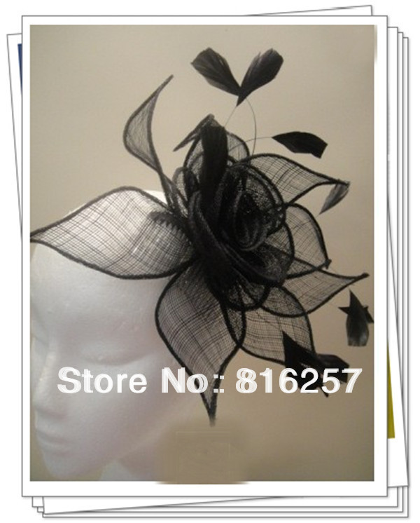 Free shipping 9color high quality sinamay fasinctor hats,nice bridal hair accessories/party hats/cocktail hats,FS49(China (Mainland))