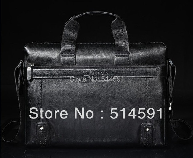 2015 Promotion Fashion Leather Man Bag Business Briefcase For Men Bags Men Leather Laptop Bags With Shoulder Belt