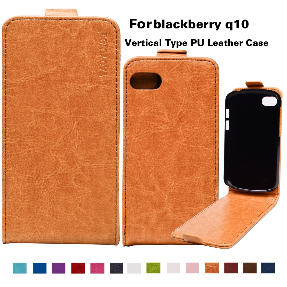 "New Arrival 14Colors Leather Case Up Down Flip Business Style Case for Blackberry Q10 3.1"" Vintage Colorful Phone Cover Bags(China (Mainland))"