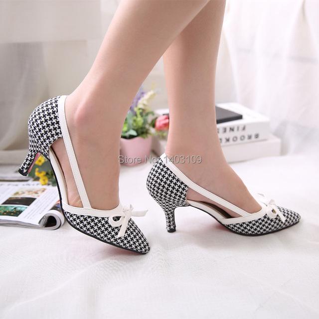 Новые летние удобные хлопковые женские туфли с острым носом, декорированные бантиком ...