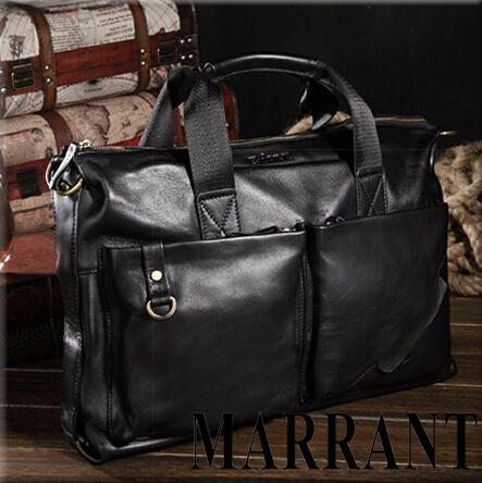 Мужская многофункциональная сумка для ношения в руках или на плече из натуральной ...