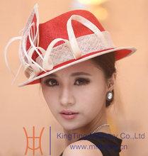 Free Shipping Fashion New Arrival Fashion Women Hat Sun Hat Sinamay Hat Sweet Princess Hat Fashion Dress Wedding Accessories