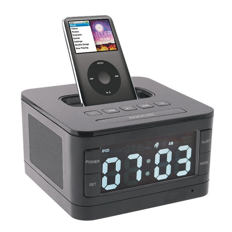 Fashion B7 Portable Loud Speaker Dock , FM Radio, Clock , Battery Remote Control For Iphone 6 plus(China (Mainland))