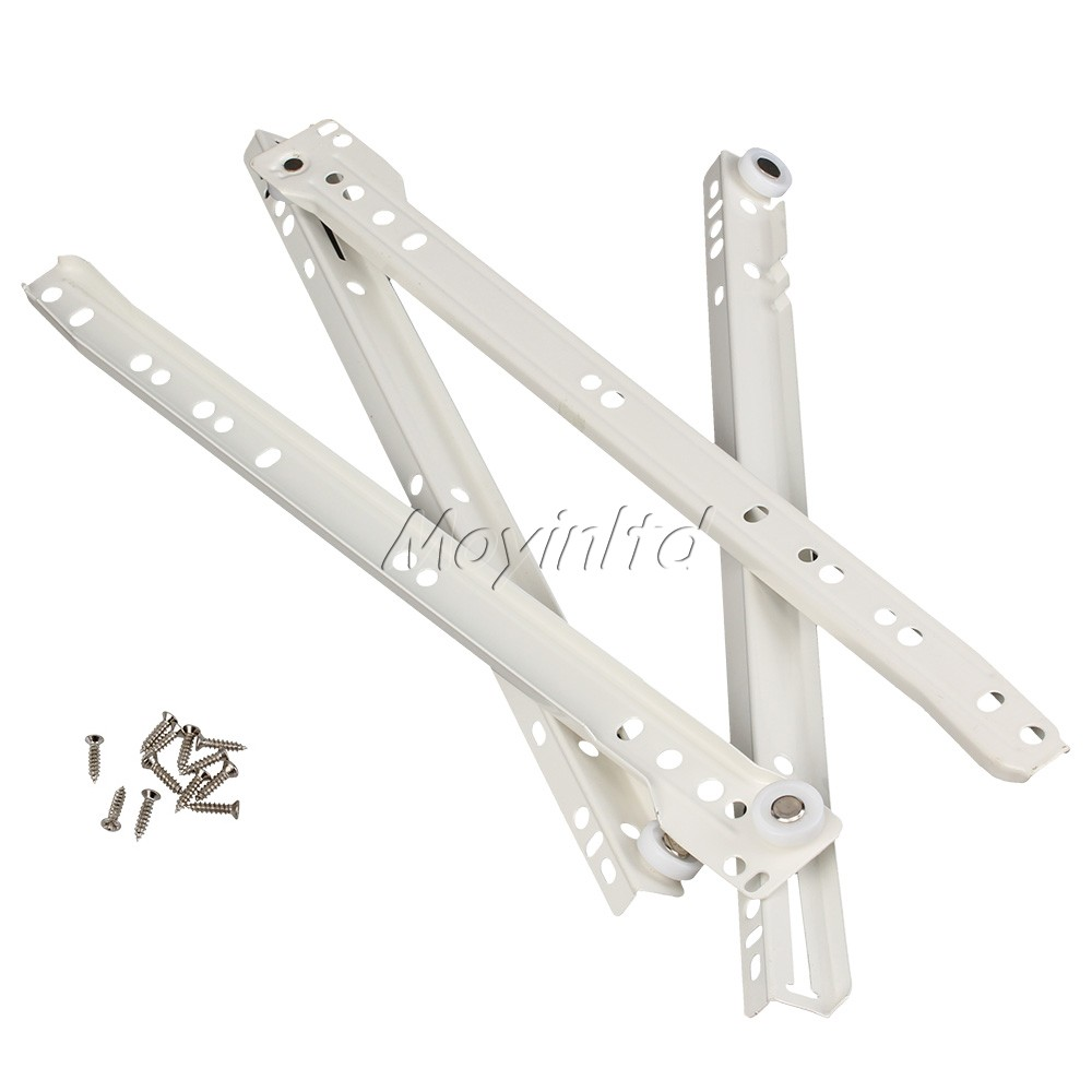1 Pair 35cm White Durable Metal Drawer Runner Slides Rail For Furniture Cabinet(China (Mainland))