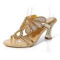 2016 New Golden Luxury Diamond High Heels Slippers Online Shopping Peep Toe Women s Shoes Sandals