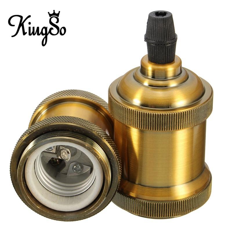 Best Price Incandescent Bulbs Vintage Retro Antique Edison E26/E27 Brass Copper Keyless Lamp Light Bulb Holder Socket 110V-250V<br><br>Aliexpress