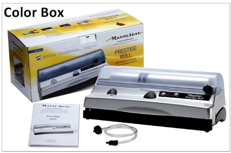Free Shipping High Quality Magic Vac Prestige Roll Vacuum Sealer, Vacuum Food Sealer, Automatic One-Touch, Low Noise