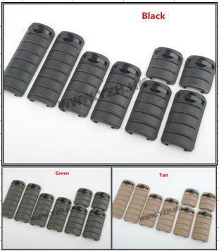 3 Set of KAC Knights handguard panel with ribs rail covers panel 8 PCS /set black / Green/ Tan color can be choosed Free Ship(China (Mainland))