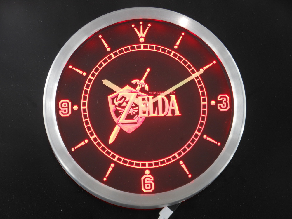 nc0199 Legend of Zelda Video Game Room Neon Sign LED Wall Clock Wholesale Dropshipping