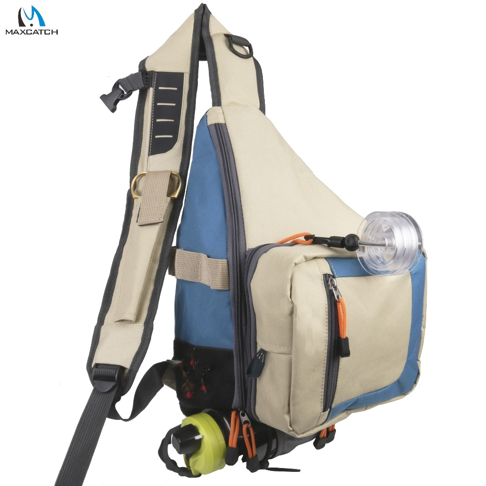 Maxcatch fly fishing sling pack bag light weight outdoor for Fly fishing sling pack