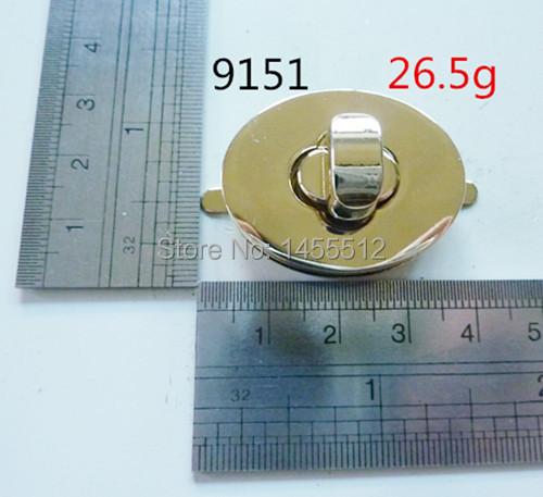38*30mm handmade twist lock bags metal fashion hardware gold oval turn lock,30sets/lot free shipping(China (Mainland))