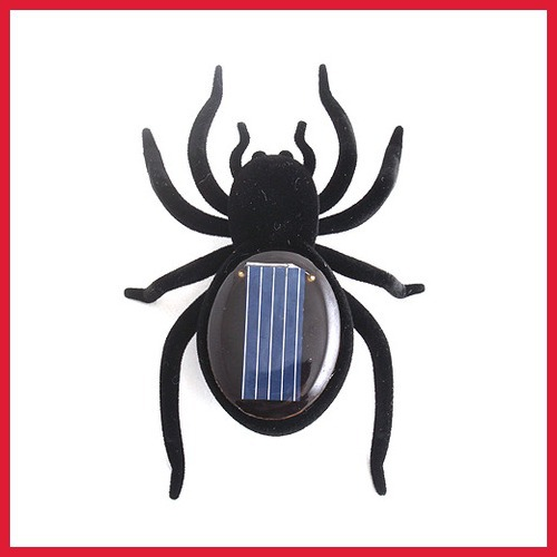 rising stars rising stars carroteer Educational Solar Powered Black Spider Toy Gadget Kids Hot hot promotion hot promotion(China (Mainland))