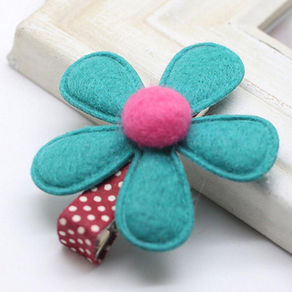 Девушка Hairclip Мини Ткань Цветок зажим для волос дети заколки DIY девочки аксессуары для волос 5 Цветов