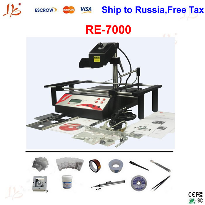 Free Ship To Russia, include Tax!welding machine Jovy Re-7500 infrared BGA rework station with Jovy systems + bga reballing kits(China (Mainland))