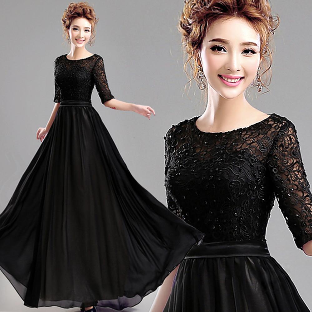 Выпускное черное платье