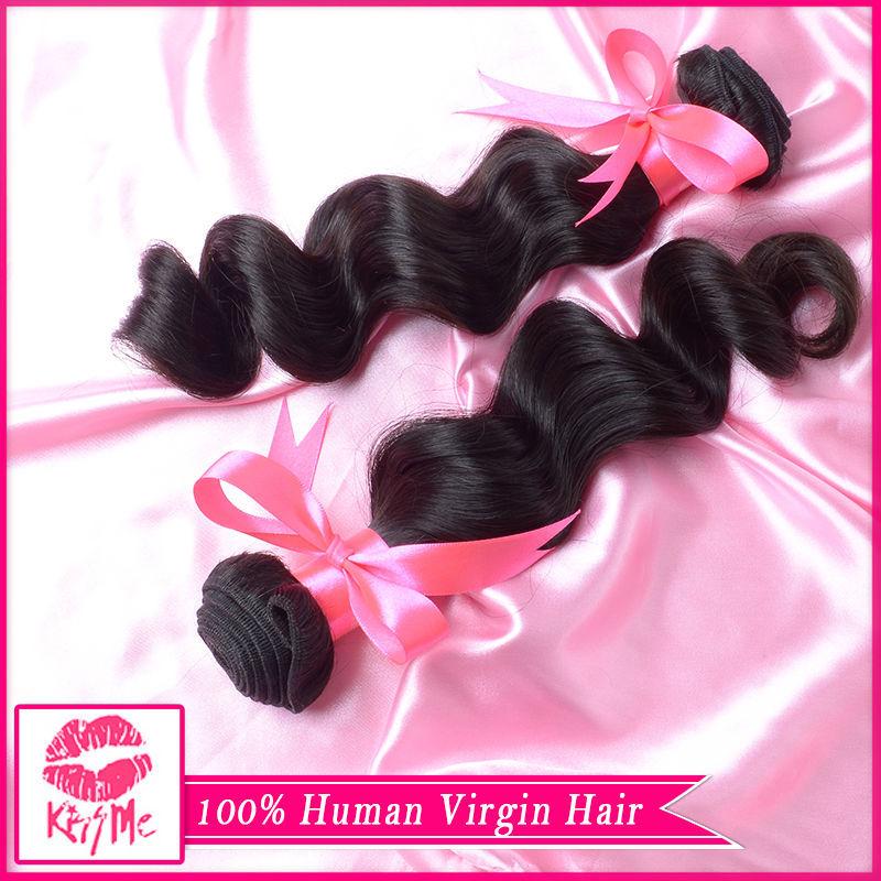 cheap 100 brazilian human hair weave brands 100g bundles,beauty crochet hair extensions natural color(China (Mainland))