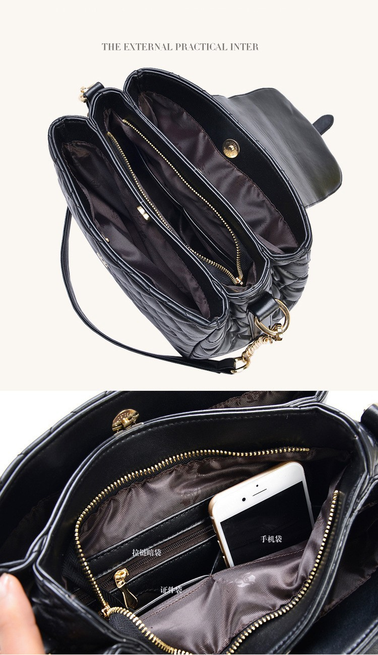 2015 Hot  Real Leather Bucket Bag Female Casual Shoulder Bags Cross