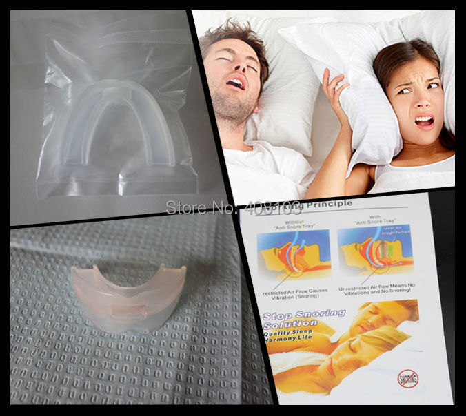300Pcs/lot  STOP SNORING Anti Snore Mouthpiece Apnea Guard Bruxism Tray Sleeping Aid MY304