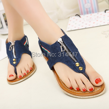 Beautiful Size 35 40 2014 Summer Fashion Slippers Women Sandals Flops Flat Shoes