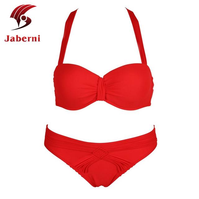 Мода девушка бикини сексуальные дамы крючком купальники известный бренд бандо купальник твердый купальный костюм росту женщин топ брюки