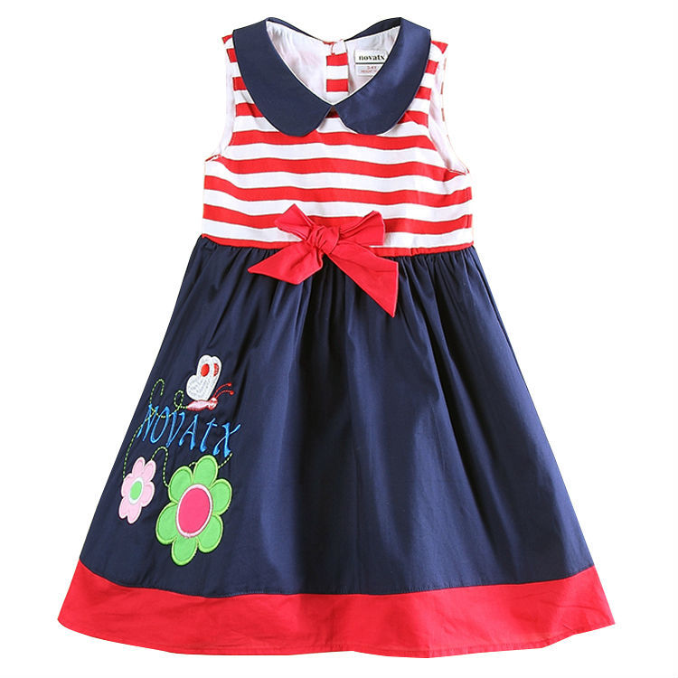 Tutu Dress for Baby Girl Nova Summer Floral Girls Princess Dress 100% Cotton Casual Dress H5746<br><br>Aliexpress