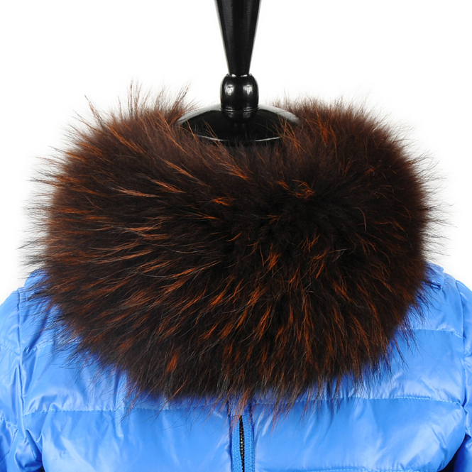 Free shipping raccoon fur collar scarf women 2color 55cm*15cm whole sale(China (Mainland))