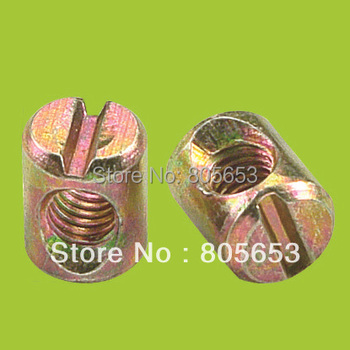 High quality M6x10mm 4.2g Furniture cross head hammer nut barrel nut (N2911)