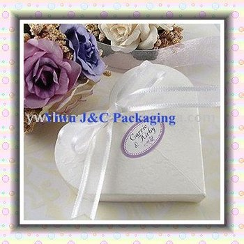 100pcs FREE SHIPPING--Heart Shaped Wedding Gift Boxes, Candy Box (JCN-29)