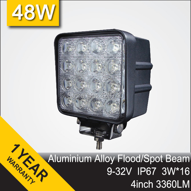 4INCH 48W LED WORK WORKING DRIVE DRIVING LIGHT LAMP Epistar FOR OFF ROAD UTE 12V 24V 4x4 4WD BOAT SUV TRUCK TRAILER MOTORCYCLE(China (Mainland))