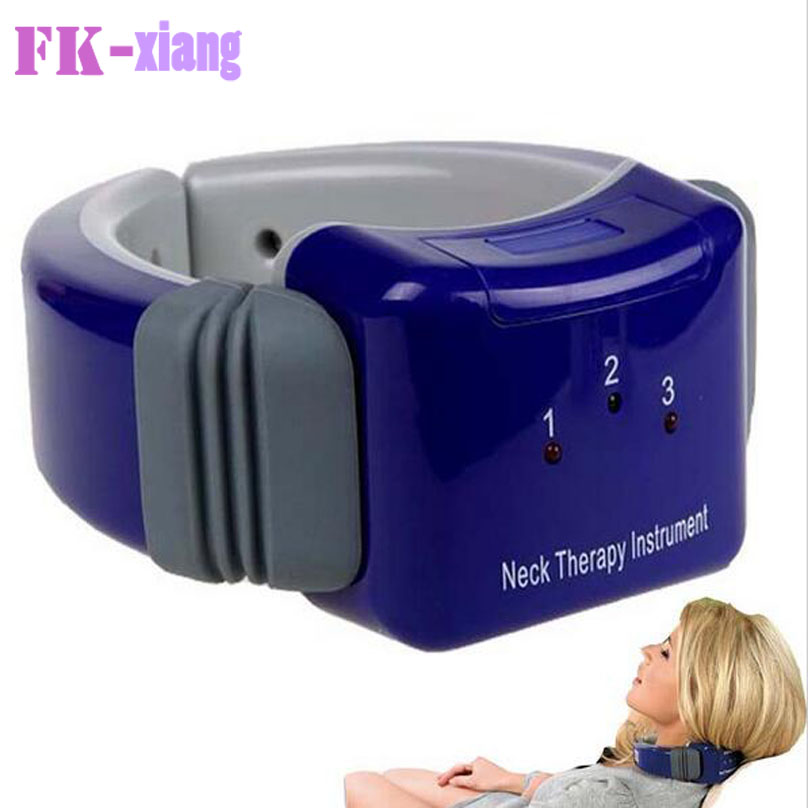 HOT Neck Cervical spondylopathy Vertebra Neck Therapy Care Instrument Electric Laser Vibrating Massager Health Care(China (Mainland))