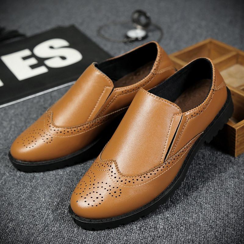 nouveaux hommes occasionnels chaussures 2016 pu cuir solide noir camel bureau des affaires de mariage pour hommes appartements c - Location De Chameau Pour Mariage
