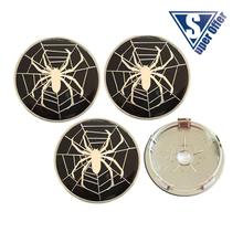 4x BLACK SPIDER NET 60mm wheel center caps hub cover chrome car badges ABS for cruze Malibu Aveo Focus M3 X3 M5 321(China (Mainland))