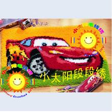 Коврик » сделай сам » рукоделие комплект незавершенной ручного вязания крючком ковер пряжи подушки вышивка ковра скоростные автомобиля SNS