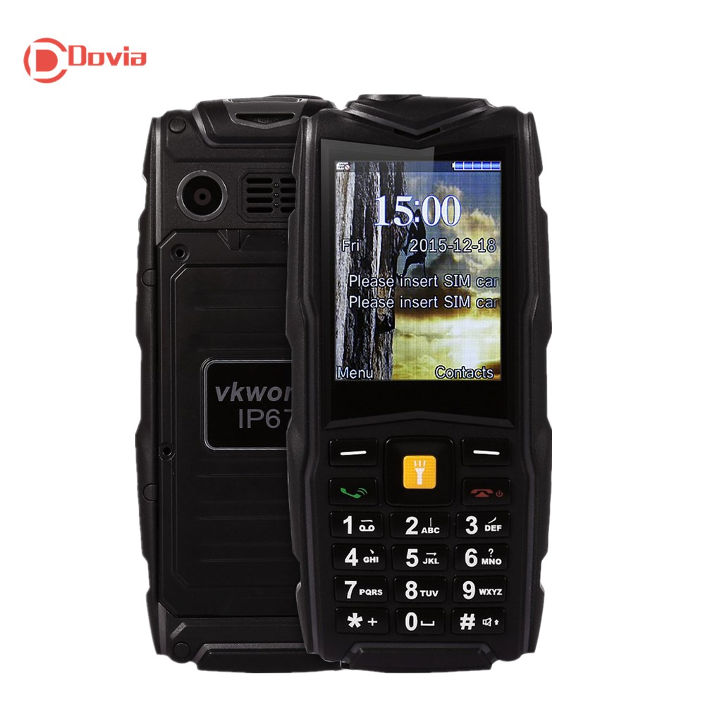 VKworld Stone V3 2.4 inch Quad Band IP67 Waterproof Dustproof Dropproof Dual SIM MP3 Flash Light Power Bank Unlocked Phone(China (Mainland))