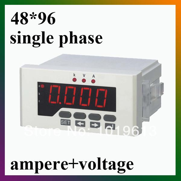 Single Phase Led : Single phase led digital voltmeter ammeter power current