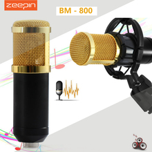ZEEPIN BM 800 Dynamic Condenser Wired Recording Microphone Sound Studio with Shock Mount for Recording Kit KTV Karaoke(China (Mainland))