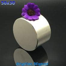 Free shipping 1pc Dia 50x30 mm hot  round  magnet Strong Rare Earth Neodymium Magnetic 1.968''x1.181'' wholesale 50*30(China (Mainland))