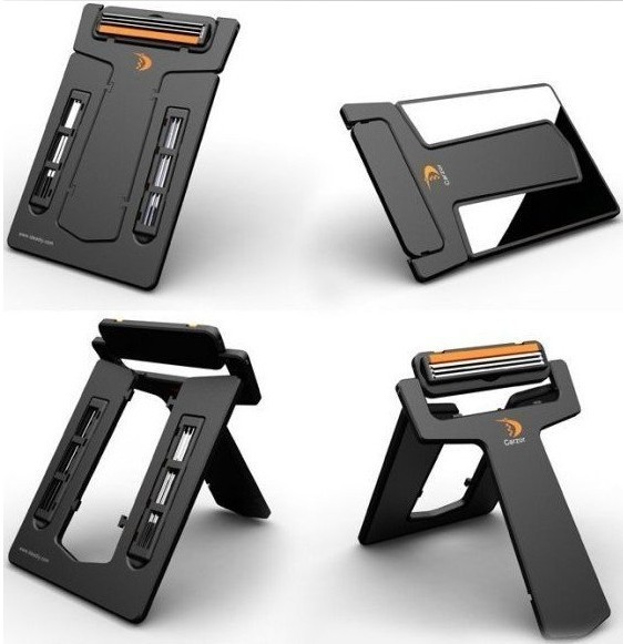 Hot Selling Mens Mini Portable Razor Credit Card size U-style Mirror 2 Blades Wallet Shaver Tavel & Outdoor convinient
