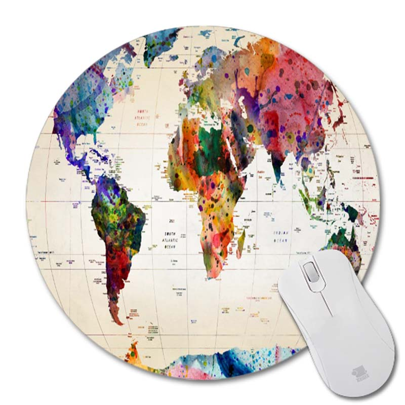 Map New Small Size Round Mouse Pad Non-Skid Rubber Pad<br><br>Aliexpress
