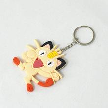 Pikachu Raichu Jigglypuff Bulbasaur Dragonite Meowth Pokemon Chimchar de 8cm Anime PVC colgantes llavero regalo de cumpleaños(China)