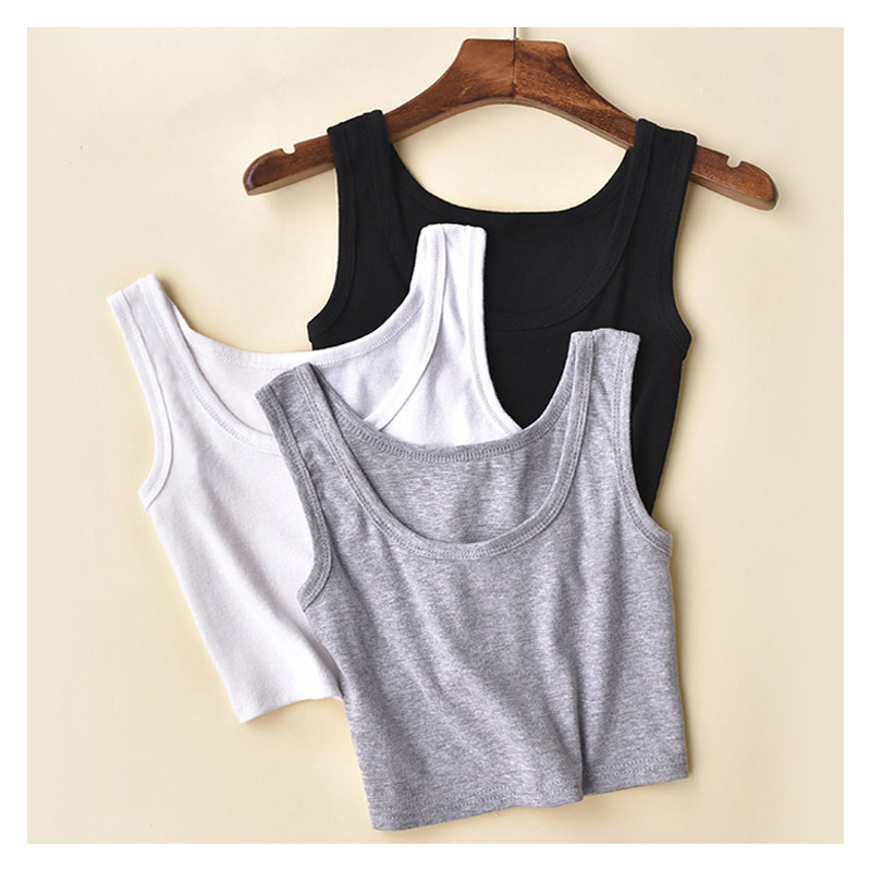 2016 New Fashion Women Ladies Girl Sleeveless Summer Style Short Crop Top Tube Tops Gym Tank Casual Sport Vest 12 Colors Vests(China (Mainland))