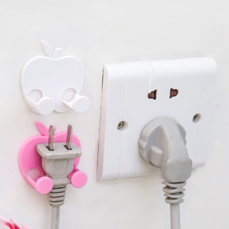 FREE SHIPPING 2PCS/Lot Power Plug Socket Jack Hook Rack Holder Hanger Home Wall Decor Organizer(China (Mainland))