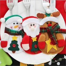 Decoración de navidad de Santa Claus de Navidad comida cuchillo tenedor cuchara cubierta de adornos De Navidad objetos decorativos restaurante del hotel(China (Mainland))
