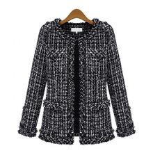 2017 Women Basic Coats Fashion Elegant Vintage Tweed Winter Casual Formal Woolen Overcoat Coat Winter Jacket Women(China (Mainland))