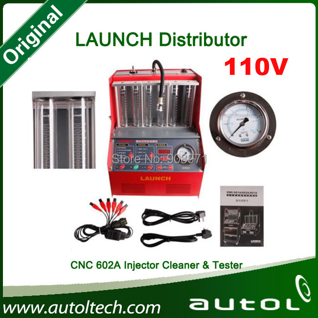 CNC-602A injector flow test 2014 Launch CNC 602A Ultrasonic Fuel Injector Cleaner & Tester auto testing launch cnc602a(China (Mainland))
