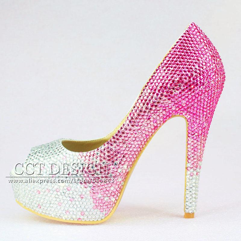 pink high heels wedding