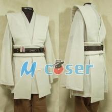 Star Wars Obi-Wan Kenobi Jedi Tunic Robe Cloack For Adult Men Haloween Cosplay Costume Free Shipping